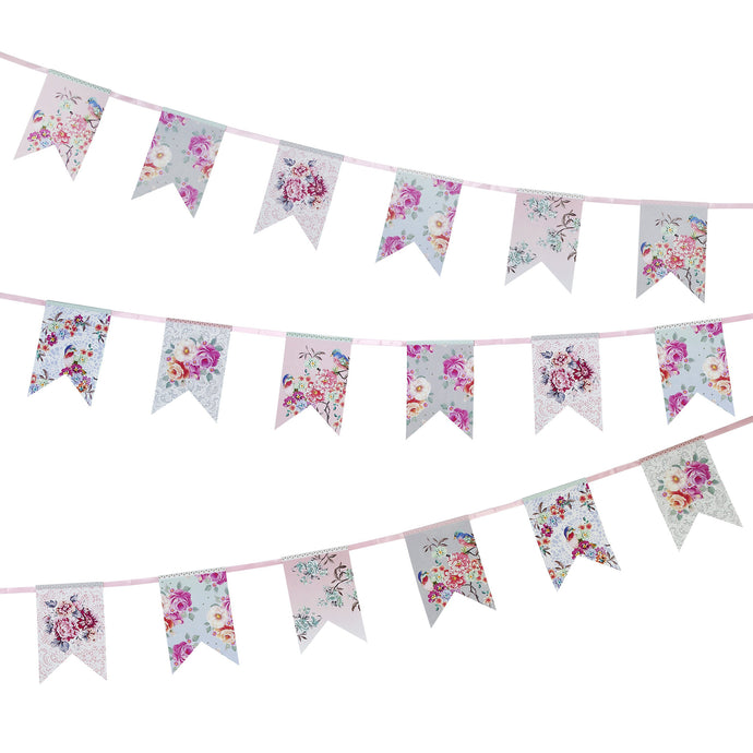 Truly Romantic Floral Paper Garland