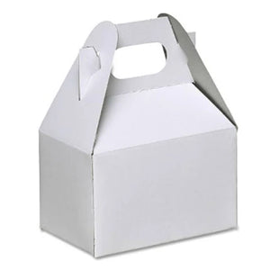 White Gable Box Balloon Weight