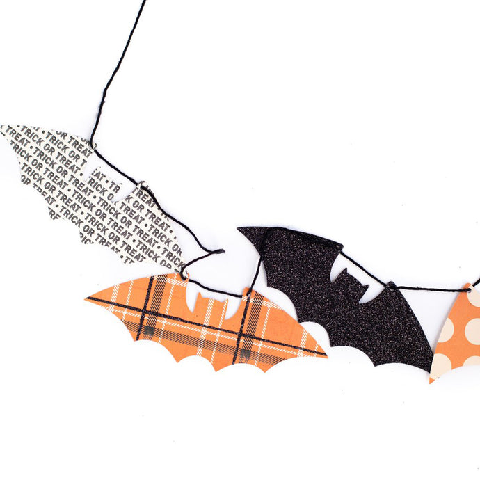 Halloween Mini Bats Paper Garland