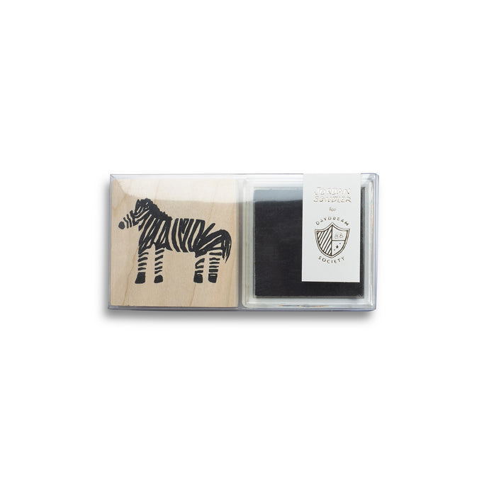 Into The Wild Zebra Rubber Stamp Set