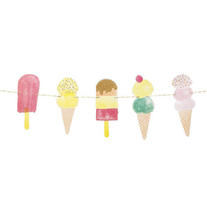Double Sided Ice Cream Cone Paper Garland
