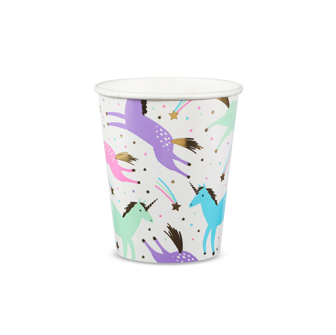 Magical Unicorns Paper Cups - 8 Pack