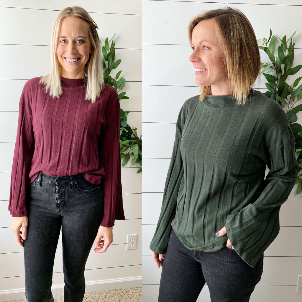 Libby Mock Neck Top