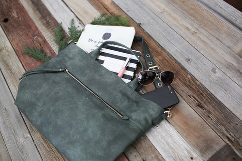 Dena Olive Leather Purse