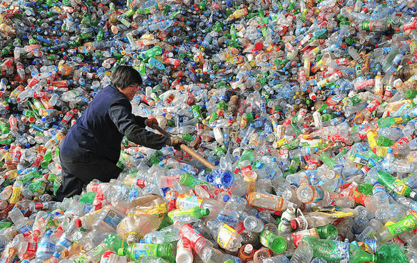 mountains of plastic bottles