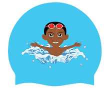 Load image into Gallery viewer, Boys  -Red Goggles SWIMMIE CAP
