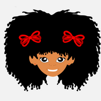 Wild Hair with Red Bows