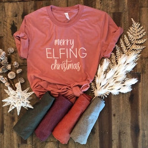MERRY ELFING CHRISTMAS (women's)
