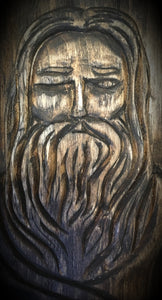 Odin Mythological Carving - Relentless Crafting