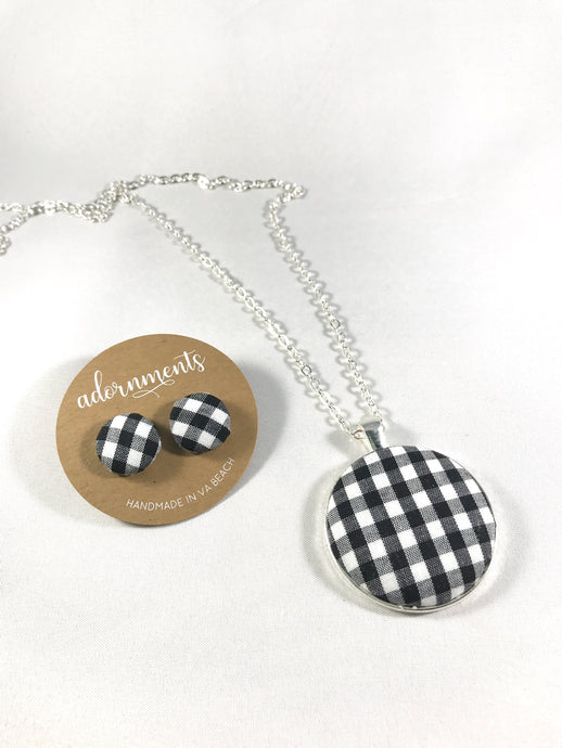 Gingham Plaid- Black and White
