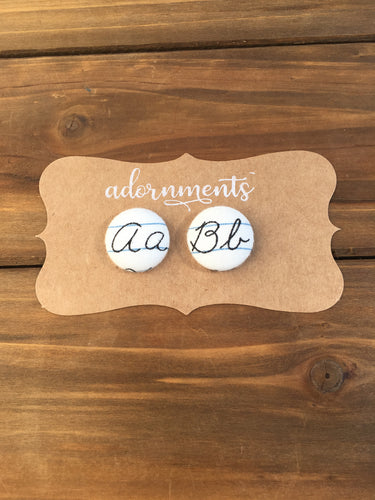 Script Letter Earrings- Customizable