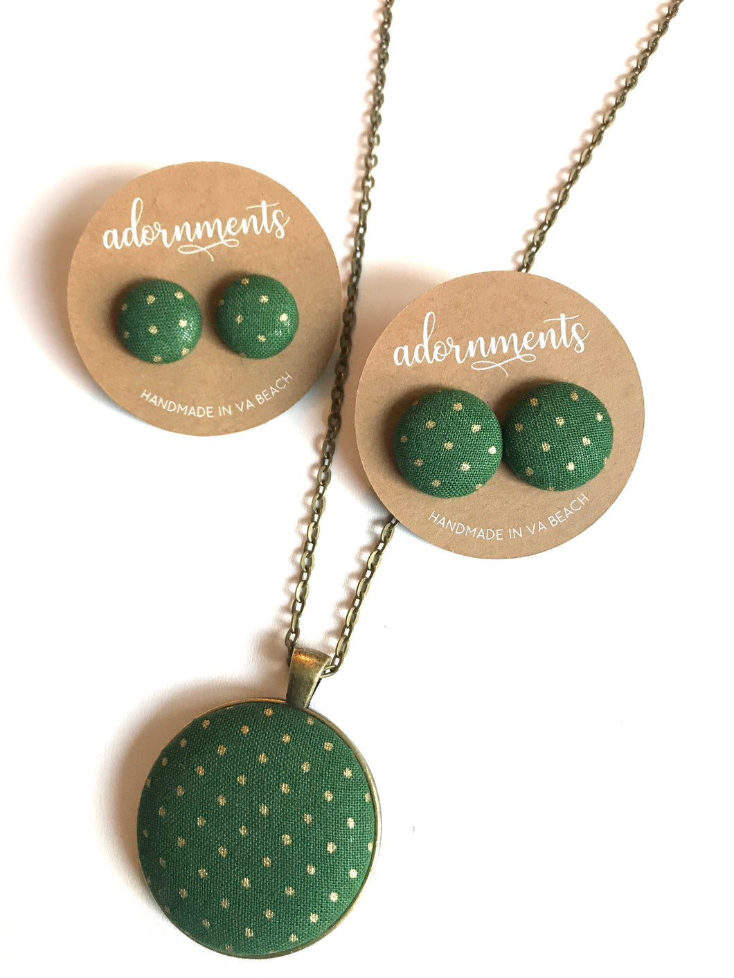Green and Gold Dots