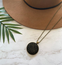 Gold dots- Black