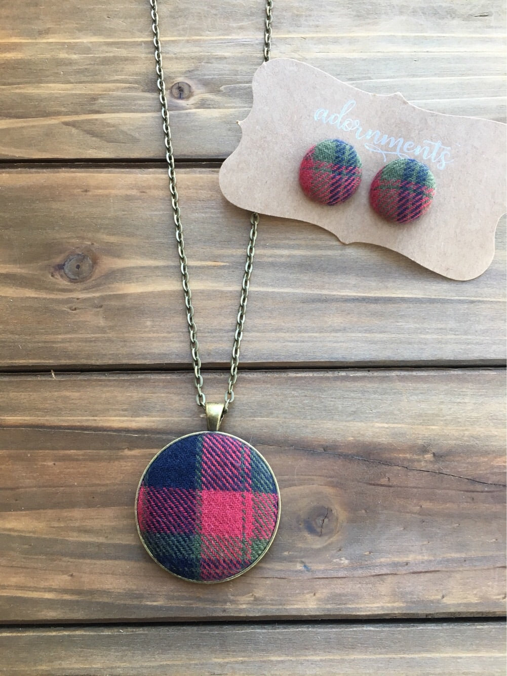 Red, green and black plaid