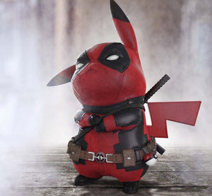 Figurine Pikachu cosplay Deadpool 15CM