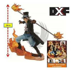 Lot de 3 figurines One piece - Luffy, Ace et Sabo 14-17CM