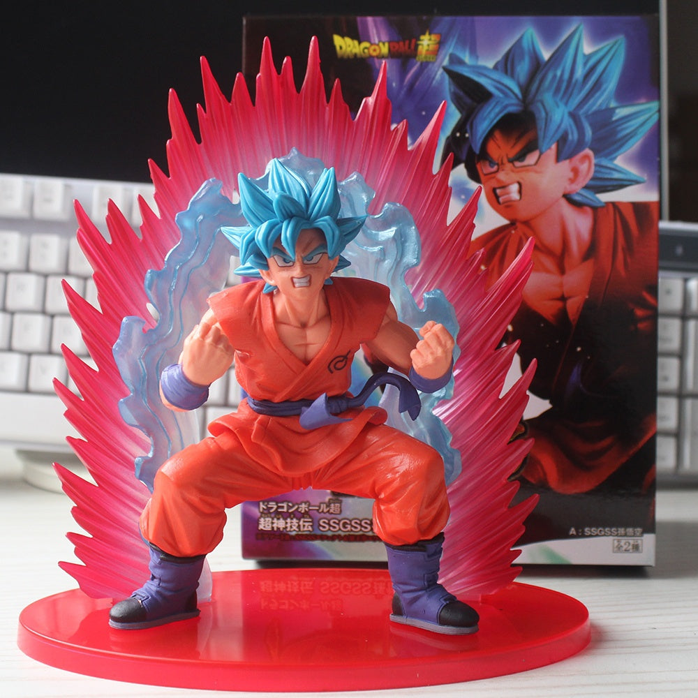 Figurine Dragon Ball Super - Son Goku Super Saiyan Blue Kaioken 17CM