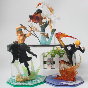 Figurine One Piece - Monkey D. Luffy, Roronoa Zoro & Sanji 15-19CM