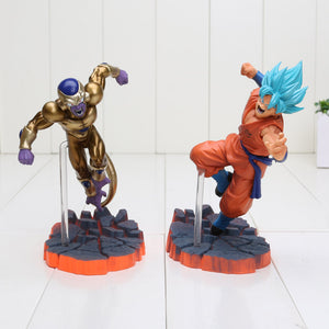 Figurine Dragon Ball Super - Golden Freezer et Son Goku super saiyan Blue 15 cm
