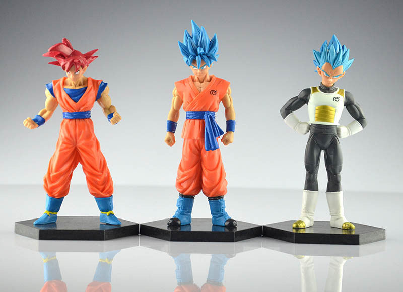 Lot de 6 figurines Dragon Ball Super 12-14 cm