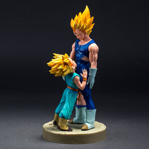 Figurine Dragon Ball Z - Vegeta & kid Trunks 21CM