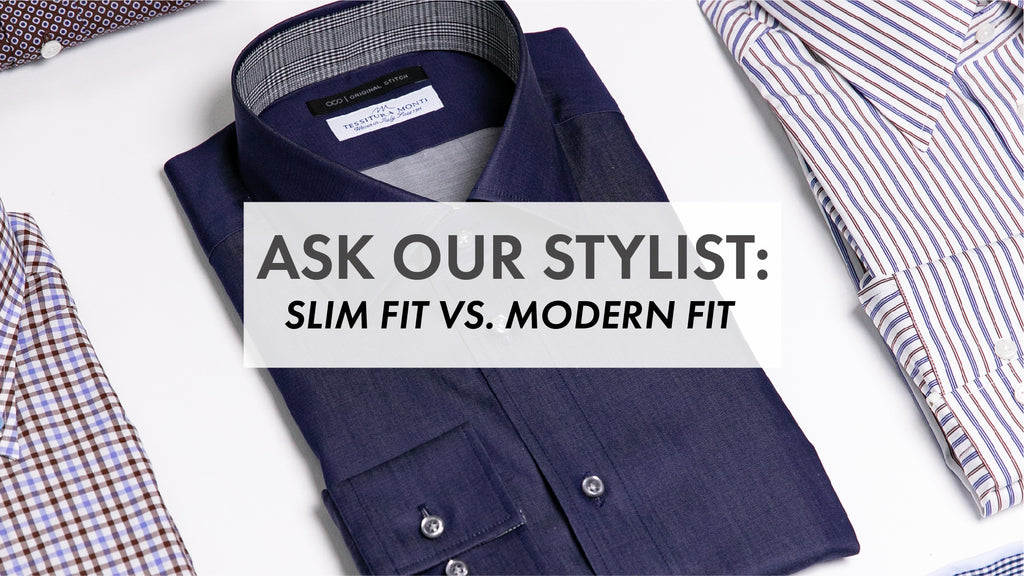 The Difference Between Slim Fit vs. Modern Fit Dress Shirts