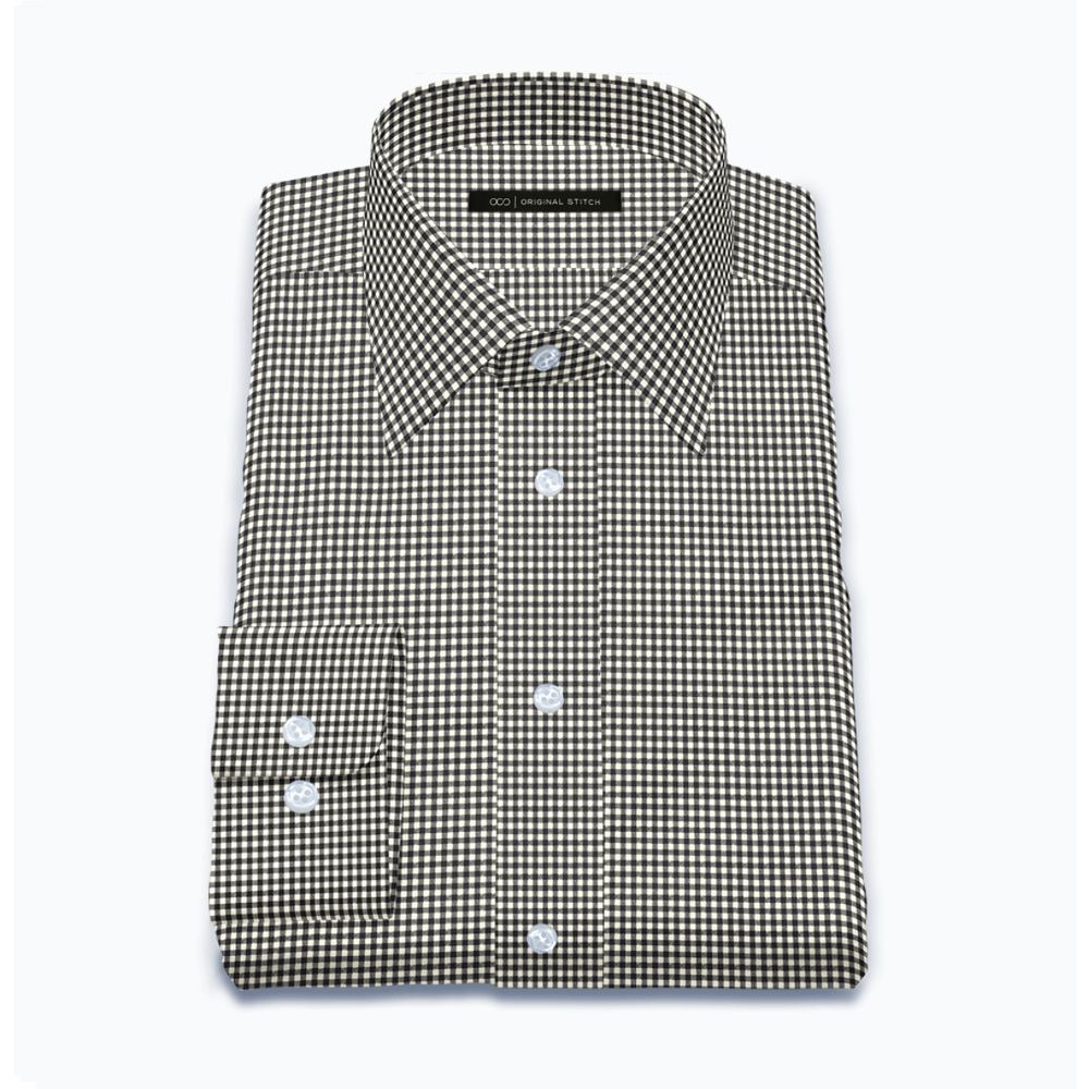 Quick Dry Black Gingham Check