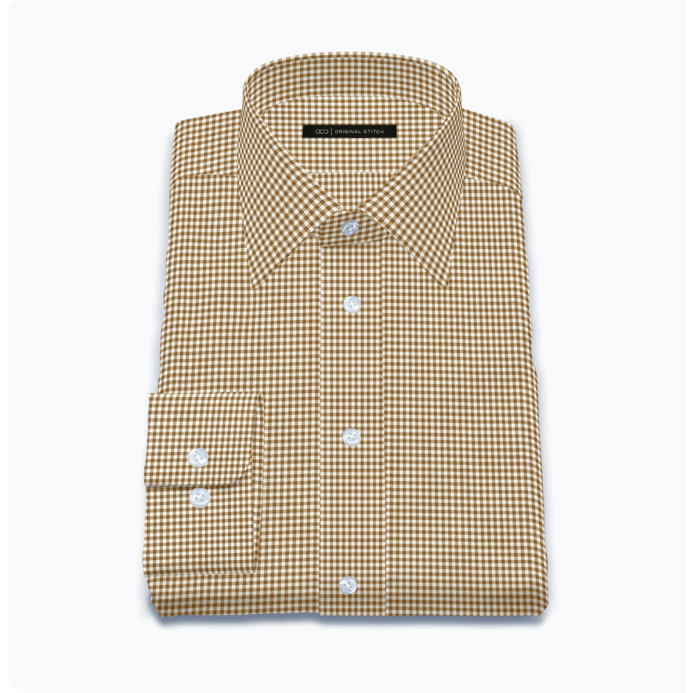 Quick Dry Brown Gingham Check