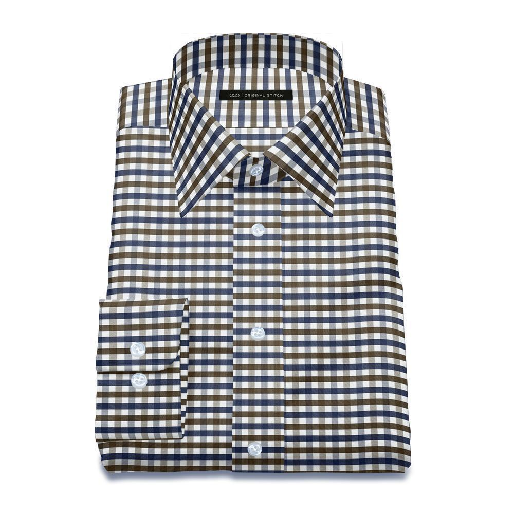 Brown Blue Vivid Gingham