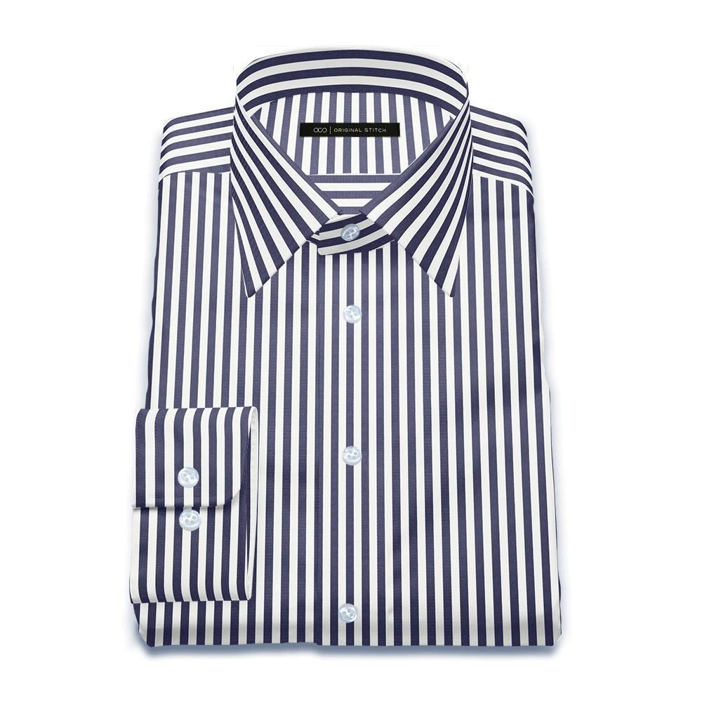 Navy London Stripe