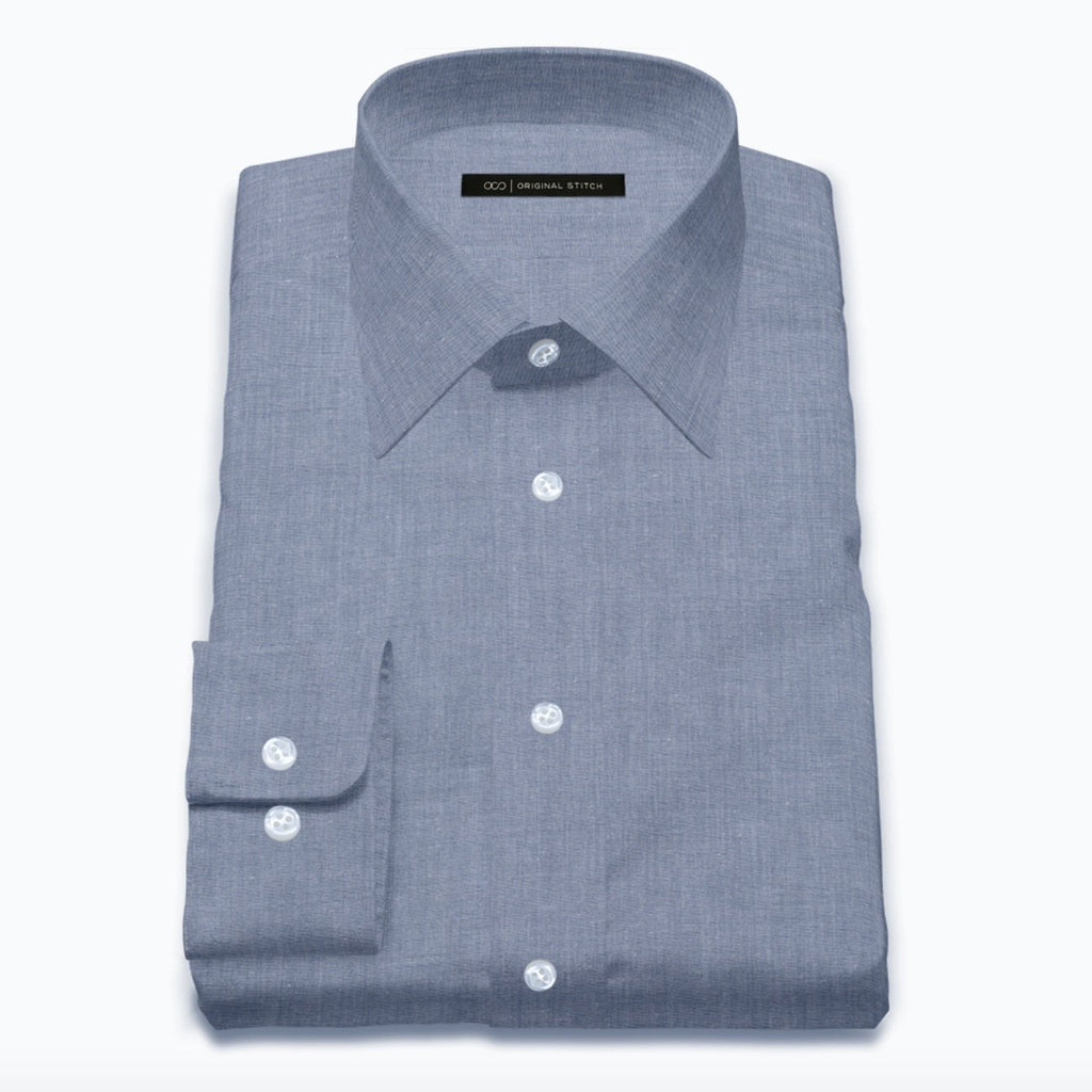 Classic Blue Silk Blend Chambray