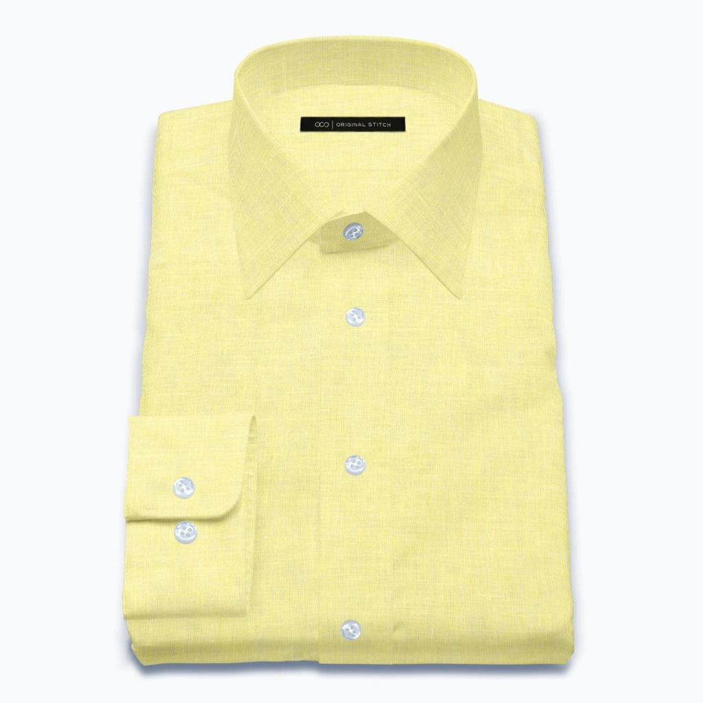 Citron Yellow Linen
