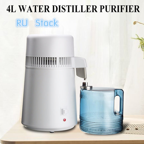 110V/220V 750W 4L Pure Water Distiller Water Purifier Container Stainless Steel Water Filter Device Household Distilled Water