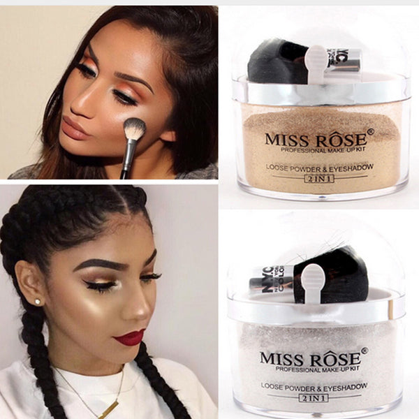 Miss Rose Brand Losse Powder Glitter Gold  And Silver Make Concealer
