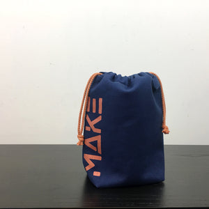 MAKE Drawstring Project Bag
