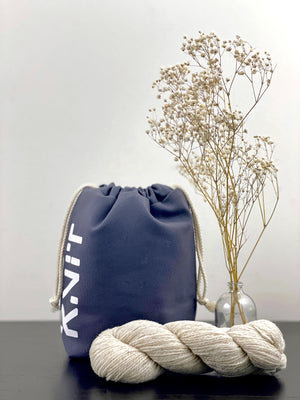 KNIT Drawstring Project Bag