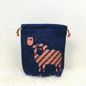 Sheep Drawstring Project Bag