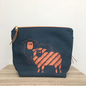 Pearadise Island Project Bag - Sheep Zipper Bag