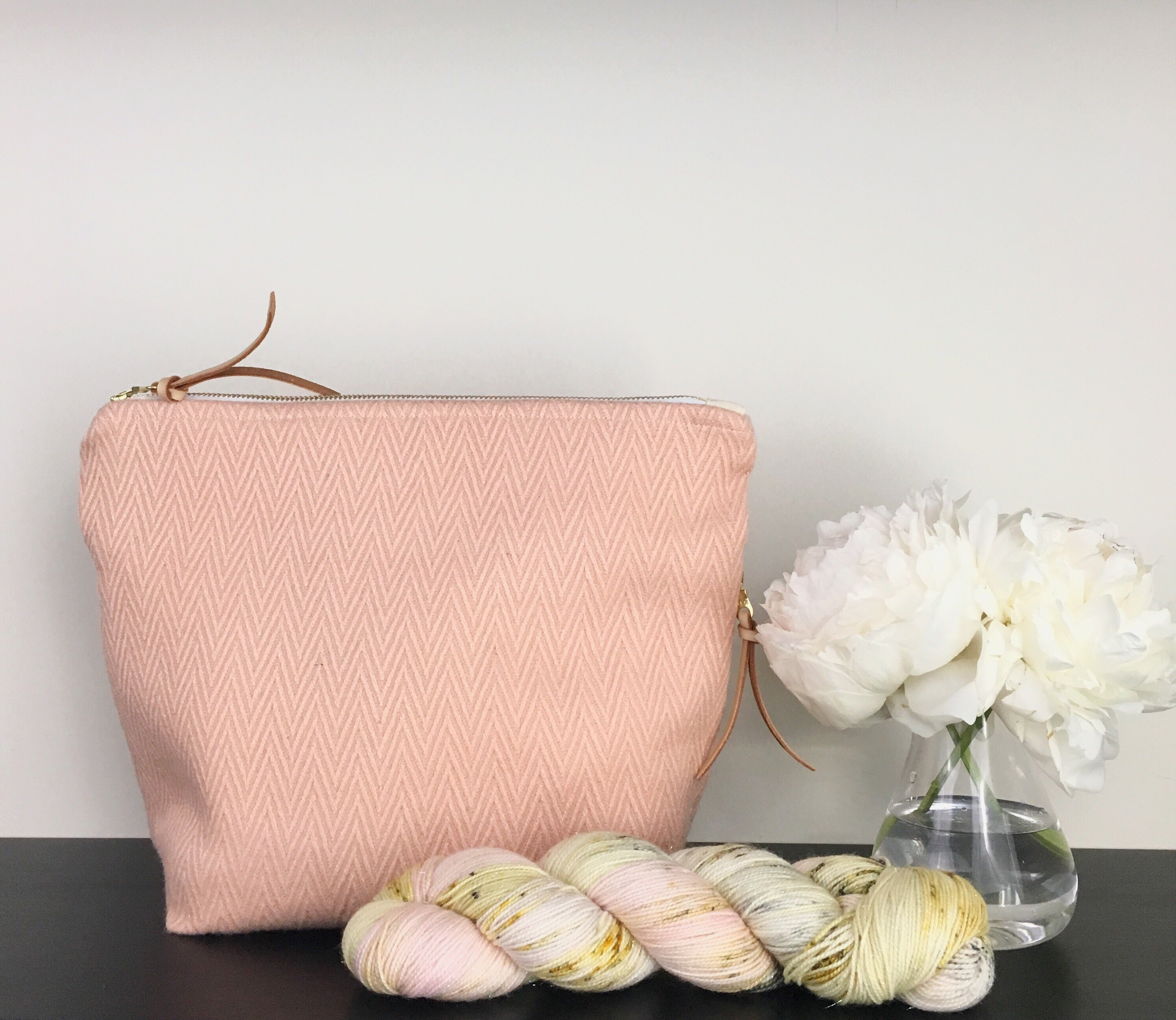 Pink Chevron Zippered bag