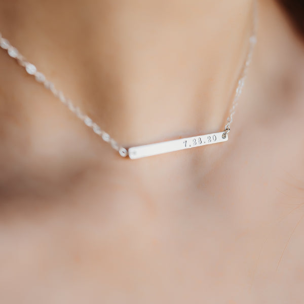 Personalized Bar Necklace - IF Only Pretty LLC