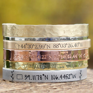 test of Personalized Cuff Bracelet