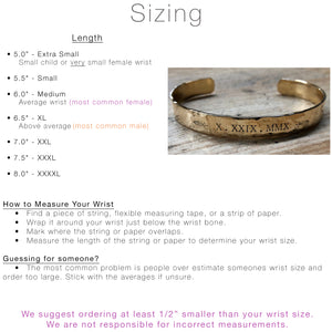 Extra Long Personalized Cuff Bracelet - IF Only Pretty LLC