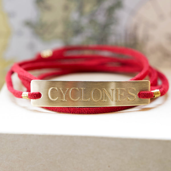 Iowa State Cyclones Red Wrap Bracelet