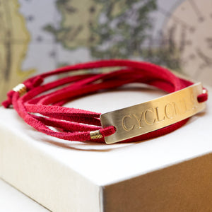 Iowa State Cyclones Red Wrap Bracelet - IF Only Pretty LLC