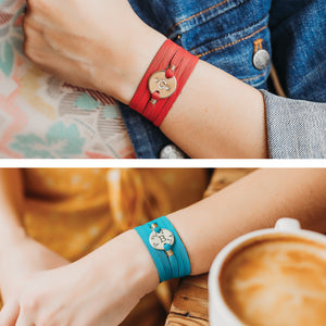 Personalized Zodiac Leather Wrap Bracelet