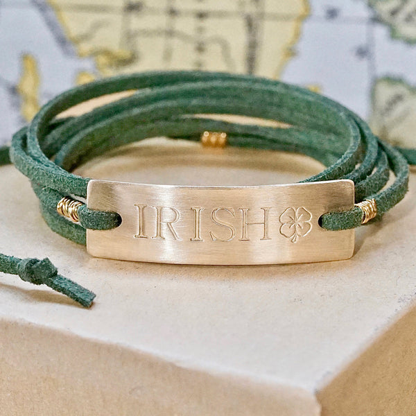 Notre Dame Green & Gold Irish Bracelet