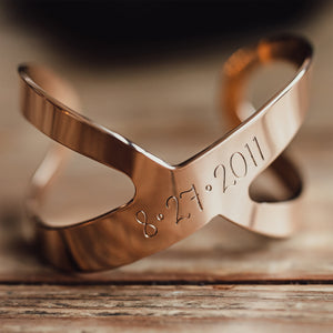 Personalized Infinity Cuff Bracelet - IF Only Pretty LLC