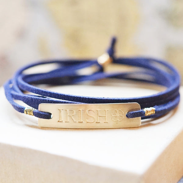 Notre Dame Blue Irish Bracelet - IF Only Pretty LLC