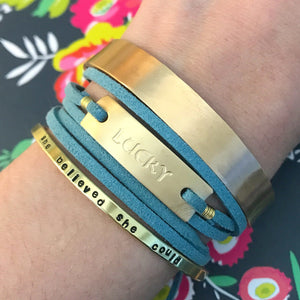 Lucky Wrap Bracelet - Gold and Turquoise