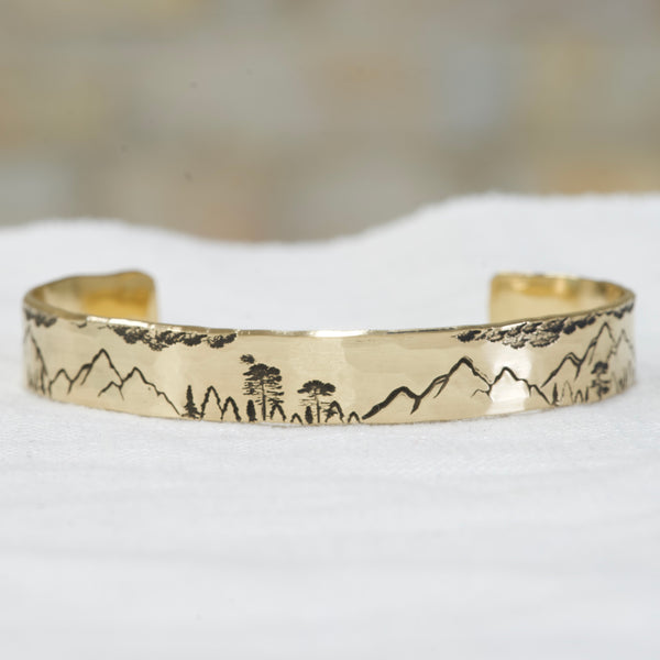 Scenic Mountain Cuff - Personalized